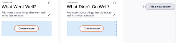 Custom Sticky Note; Add a new column